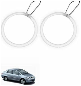 A2D Car BMW Style WHITE LED Angel Eyes Lights Set Of 2-Honda City Zx