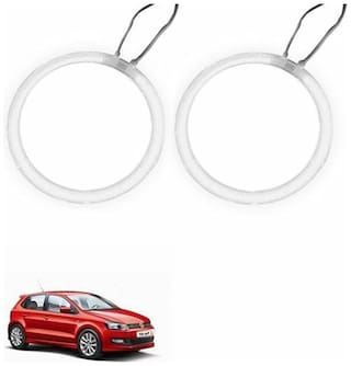 A2D Car BMW Style WHITE LED Angel Eyes Lights Set Of 2-Volkswagen Polo GT