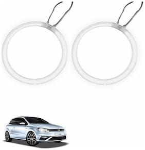 A2D Car BMW Style WHITE LED Angel Eyes Lights Set Of 2-Volkswagen Polo GTi