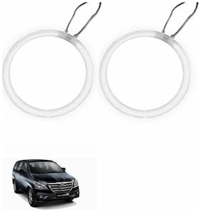 A2D Car BMW Style WHITE LED Angel Eyes Lights Set Of 2-Toyota Innova Type 4