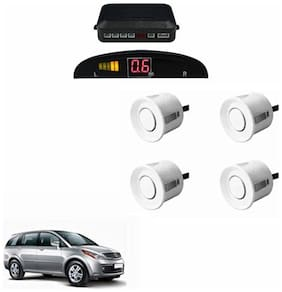 A2D Car Reverse Parking Sensor Silver With LED Display- Tata Aria