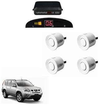 A2D Car Reverse Parking Sensor Silver With LED Display- Nissan X-Trail
