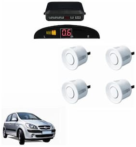 A2D Car Reverse Parking Sensor WHITE With LED Display- Hyundai Getz Prime