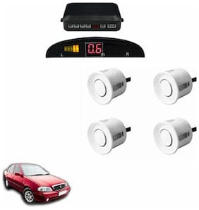 A2D Car Reverse Parking Sensor Silver With LED Display- Maruti Suzuki Esteem Type 1