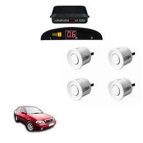 A2D Car Reverse Parking Sensor Silver With LED Display- Maruti Suzuki Esteem Type 1