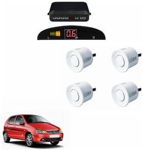 A2D Car Reverse Parking Sensor WHITE With LED Display- Tata Indica Vista