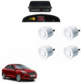 A2D Car Reverse Parking Sensor WHITE With LED Display- Ford Figo Aspire