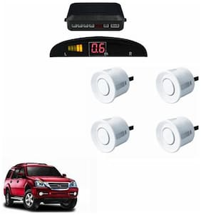 A2D Car Reverse Parking Sensor WHITE With LED Display- Force One