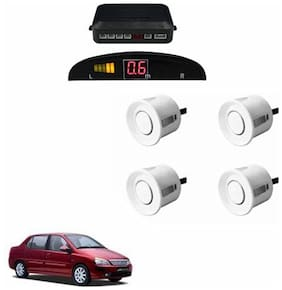 A2D Car Reverse Parking Sensor Silver With LED Display- Tata Indigo XL