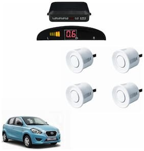A2D Car Reverse Parking Sensor WHITE With LED Display- Datsun Go