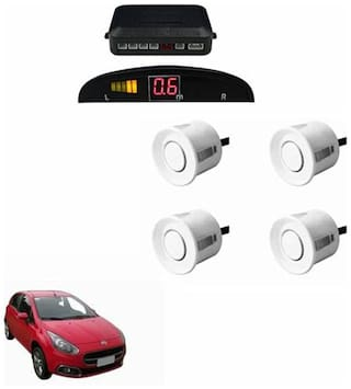 A2D Car Reverse Parking Sensor Silver With LED Display- Fiat Punto Evo