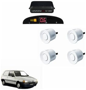 A2D Car Reverse Parking Sensor WHITE With LED Display- Fiat Uno