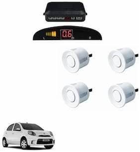 A2D Car Reverse Parking Sensor WHITE With LED Display- Nissan Micra Active [2013-2015]