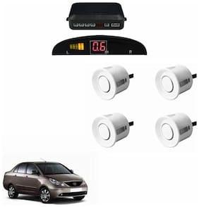 A2D Car Reverse Parking Sensor Silver With LED Display- Tata Indigo