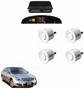 A2D Car Reverse Parking Sensor Silver With LED Display- Nissan Teana