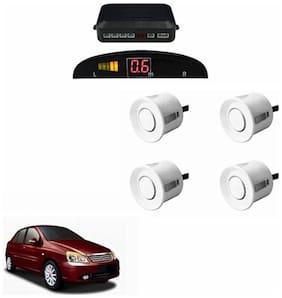 A2D Car Reverse Parking Sensor Silver With LED Display- Tata Indigo CS
