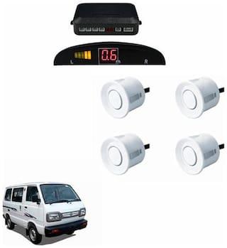 A2D Car Reverse Parking Sensor WHITE With LED Display- Maruti Suzuki Omni