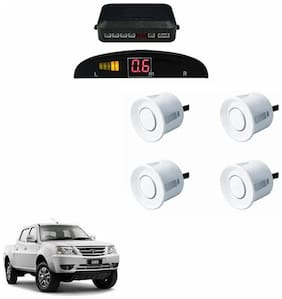 A2D Car Reverse Parking Sensor WHITE With LED Display- Tata Xenon XT [2007-2015]