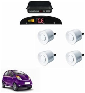 A2D Car Reverse Parking Sensor WHITE With LED Display- Tata Nano