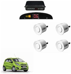 A2D Car Reverse Parking Sensor Silver With LED Display- Chevrolet Beat Type 2