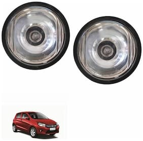 A2D Crystal Clear 10CAL Set Of 2 Car Aux Fog Lights-Maruti Suzuki Celerio