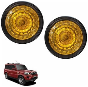 A2D Crystal Yellow 44YAL Set Of 2 Car Aux Fog Lights-Mahindra Scorpio Type 4