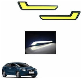 A2D L-MRC White LED Lights Fog Light Car DRL Day Time Running Lights-Maruti Suzuki Baleno New