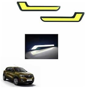 A2D L-MRC White LED Lights Fog Light Car DRL Day Time Running Lights-Renault Kwid