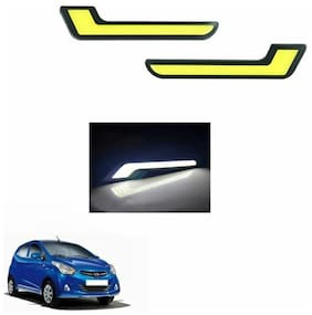 A2D L-MRC White LED Lights Fog Light Car DRL Day Time Running Lights-Hyundai Eon