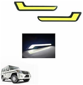 A2D L-MRC White LED Lights Fog Light Car DRL Day Time Running Lights-Mahindra Bolero