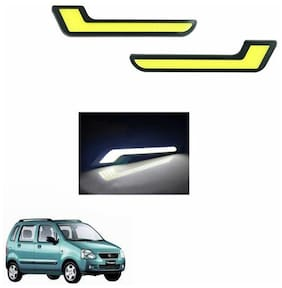 A2D L-MRC White LED Lights Fog Light Car DRL Day Time Running Lights-Maruti Suzuki Wagon R