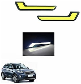 A2D L-MRC White LED Lights Fog Light Car DRL Day Time Running Lights-Hyundai Creta