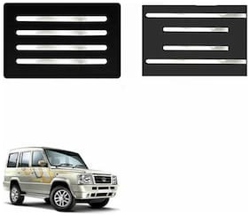 A2D Mirror Chrome Bumper Protector + Side Beadings Set Of 4-Tata Sumo Gold [2013-2015]