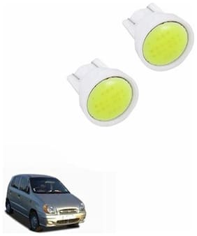 A2D PL3 Cobe Super LED Car Headlight White Parking Lights Set Of 2-Hyundai Santro