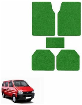 A2D SET OF 5 Anti-Skid Exotic Car Floor/Foot Mats Green-Maruti Eeco