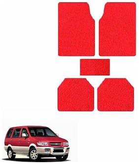 A2D SET OF 5 Anti-Skid Exotic Car Floor/Foot Mats Red-Chevrolet Tavera Type 3