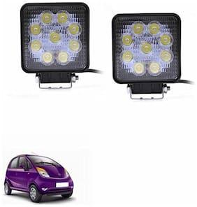 A2D SQR Car Auxiliary 9LED Fog Lights Set Of 2-Tata Nano