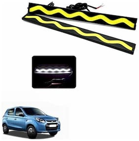 A2D SS White LED Lights Fog Light Car DRL Day Time Running Lights-Maruti Suzuki Alto 800