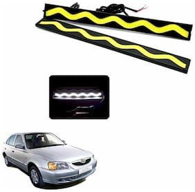 A2D SS White LED Lights Fog Light Car DRL Day Time Running Lights-Hyundai Accent