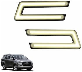 A2D Type-U White LED Fog Light Car DRL Day Time Running Lights-Toyota Innova Crysta