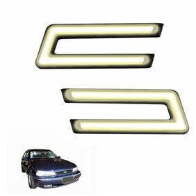 A2D Type-U White LED Fog Light Car DRL Day Time Running Lights-Daewoo Cielo