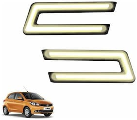 A2D Type-U White LED Fog Light Car DRL Day Time Running Lights-Tata Tiago