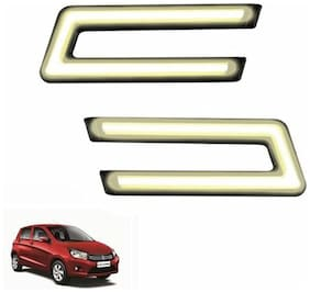A2D Type-U White LED Fog Light Car DRL Day Time Running Lights-Maruti Suzuki Celerio