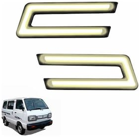 A2D Type-U White LED Fog Light Car DRL Day Time Running Lights-Maruti Suzuki Omni