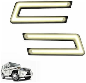 A2D Type-U White LED Fog Light Car DRL Day Time Running Lights-Mahindra Bolero