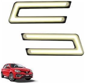 A2D Type-U White LED Fog Light Car DRL Day Time Running Lights-Toyota Etios Liva