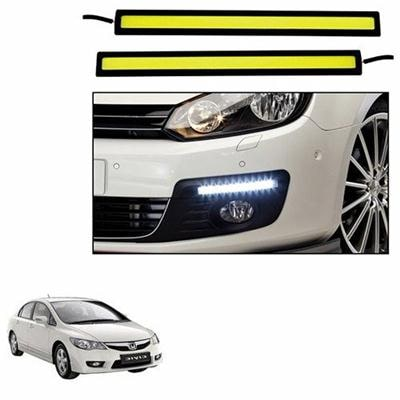 A2D White LED Lights Fog Light Car DRL Day Time Running Lights-Honda Civic Paytm Mall Rs. 599.00