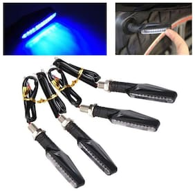 A4S Universal Bike Motorcycle 9 BLUE LED Turn Signal Indicators Light Lamp For All Indian Bikes