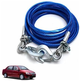 A2D 5 Ton Steel Towing Cable With Tow Hooks-Tata Indigo XL