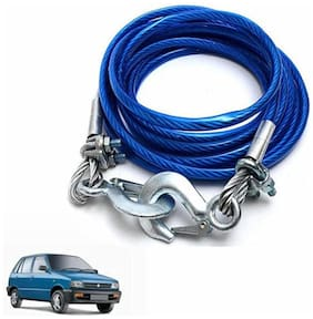 A2D 5 Ton Steel Towing Cable With Tow Hooks-Maruti Suzuki 800